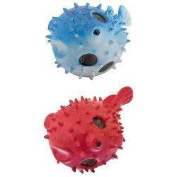 Игрушка мялка Рыба ёж, цвет синий, красный, в наборе 2 штуки