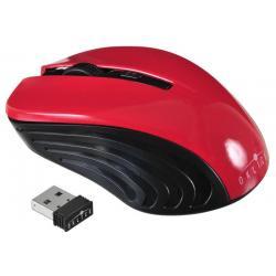 Мышь Oklick 545MW, оптическая, беспроводная, черный/красный