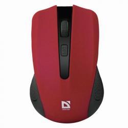 Мышь беспроводная Accura MM-935, 3 кнопки + 1 колесо-кнопка, оптическая, красная