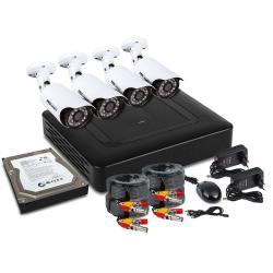 Комплект видеонаблюдения PROconnect, 4 наружные FullHD камеры, с HDD, 1Tб