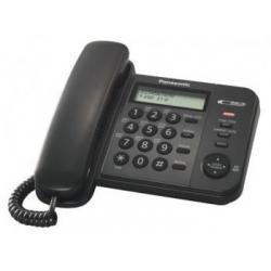 Телефон проводной Panasonic KX-TS2356RUB (черный)