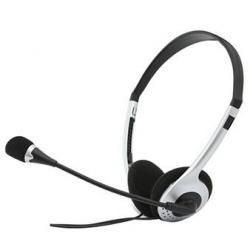 Наушники с микрофоном Sven AP-010MV, проводные, 2 м, чёрно-серебристый