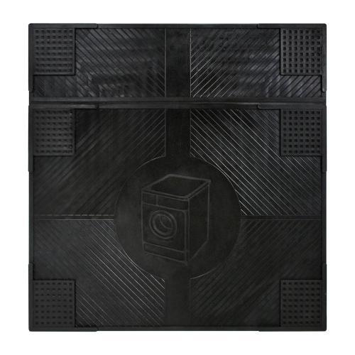 Коврик резиновый Антивибрационный, 62х65x0,7 см, черный