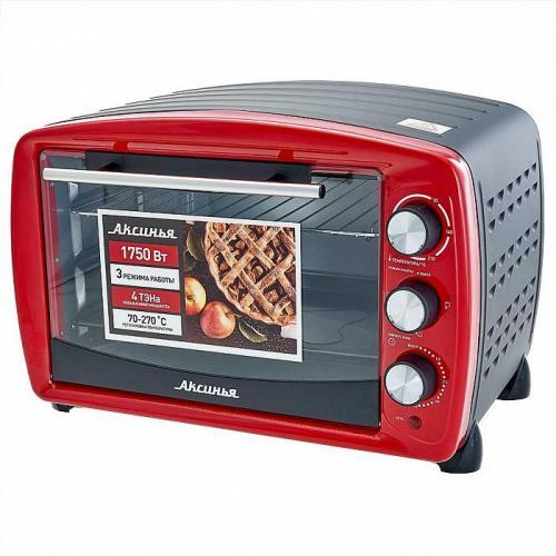 Электрическая духовка Аксинья, 1750 Вт, 36 л, цвет красный, артикул КС-5700