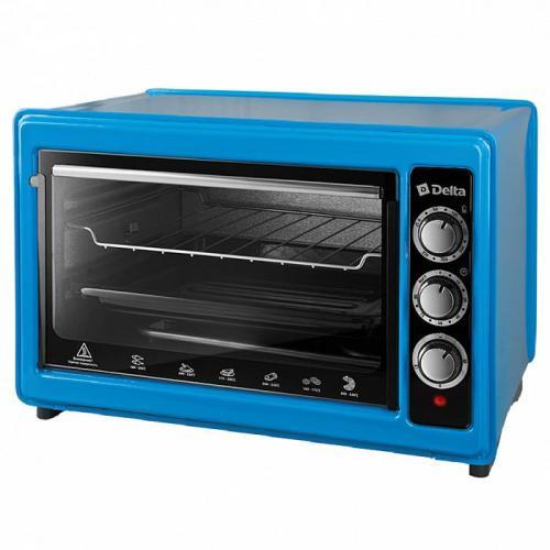Духовка электрическая Delta с термостатом, 1300 Вт, 37 л, цвет синий, артикул D-0123