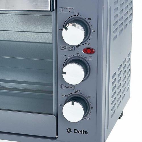Электрическая духовка Delta, 1750 Вт, цвет серый, артикул D-001