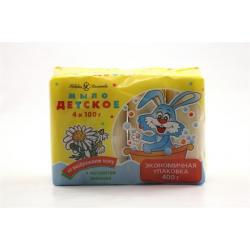 Мыло детское, с экстрактом ромашки (4 штуки по 100 г)