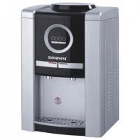 Кулер для воды, настольный Sonnen TEB-02, электронное охлаждение/нагрев, 2 крана, цвет серебристый, черный