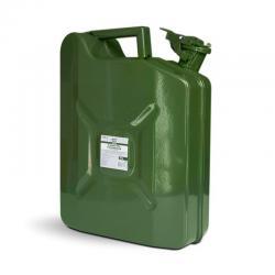 Канистра топливная металлическая AVS VJM-10, вертикальная, цвет зеленый, 10 л