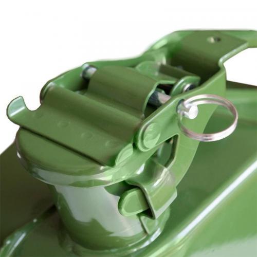 Канистра топливная металлическая AVS VJM-05, вертикальная, цвет зеленый, 5 л