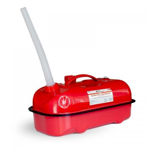Канистра топливная металлическая AVS HJM-10, горизонтальная, цвет красный, 10 л