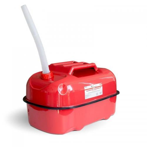 Канистра топливная металлическая AVS HJM-20, горизонтальная, цвет красный, 20 л