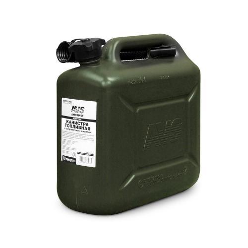 Канистра топливная AVS TPK-Z 10, цвет темно-зеленый, 10 л