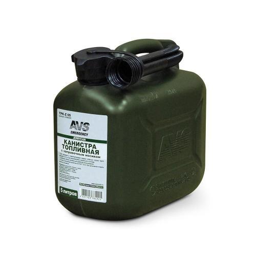 Канистра топливная AVS TPK-Z 05, цвет темно-зеленый, 5 л