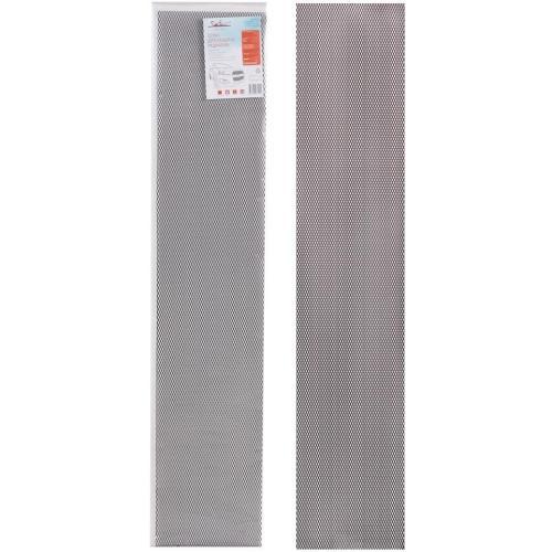 Сетка для защиты радиатора Airline, алюминий, ячейка 10x4 мм (R10), 100x20 см, черная (1 штука)