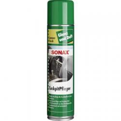 Очиститель-полироль для пластика аэрозоль Sonax. Глянцевый эффект Лимон, 0,4 литра