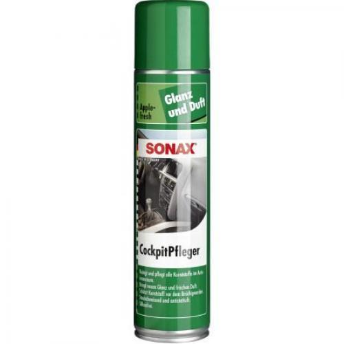 Очиститель-полироль для пластика аэрозоль Sonax. Глянцевый эффект Яблоко, 0,4 литра