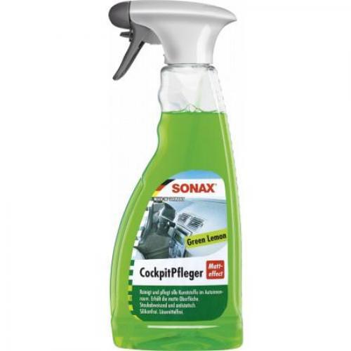 Очиститель для пластика триггер Sonax. Матовый эффект. Лимон, 0,5 литра