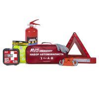 Набор автомобилиста AVS AN-02R, 7 предметов (красная сумка)