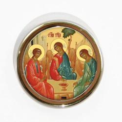Икона для авто Пресвятая Троица, 40 мм
