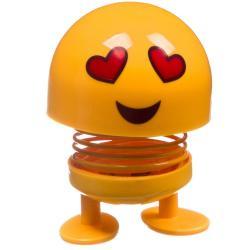Танцующий эмодзи на пружинке Чудики. Влюбленный, 5x8x5 см