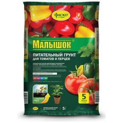 Грунт Малышок, 5 л, для томатов и перцев