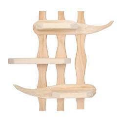 Полка Банные штучки Бамбук, липа, 54x50x9 см