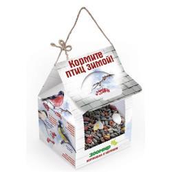 Кормушка с кормом для уличных птиц ЗООМИР, 300 г
