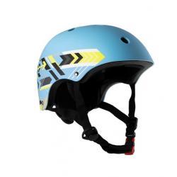 Шлем детский, размер M, цвет голубой с рисунком