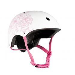 Шлем детский, размер M, цвет белый с рисунком