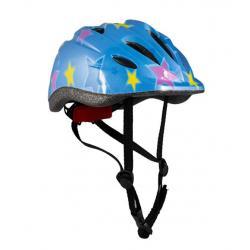 Шлем детский, размер S, цвет голубой с рисунком