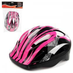 Шлем защитный, цвет фуксия (5-12 лет)