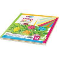 Бумага цветная для оригами, 210x210 мм, 100 листов, 10 цветов