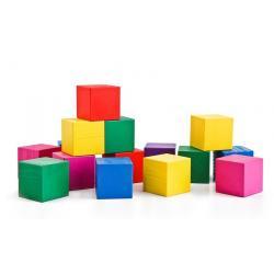 Кубики цветные, 20 штук