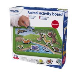 Набор обучающий Miniland Животные в лесу с магнитно-маркерной доской