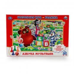 Настольная игра-ходилка Азбука мультяшек