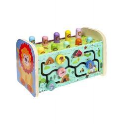 Деревянная игрушка Стучалка. Музыкальная с металлофоном, 2 молоточка
