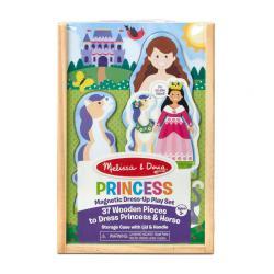 Деревянный пазл с магнитами Переодень принцессу , 37 предметов